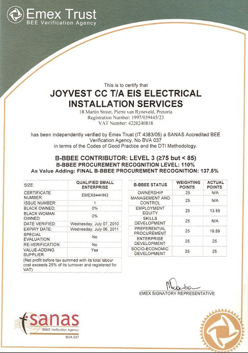 Eis Electrical Installation Services